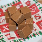 Söt fudge med Marabou-choklad