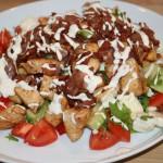Dagens lunch – matig sallad á la LCHF med kyckling och bacon