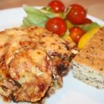 Enkel och god gratäng med köttfärs, champinjoner och zucchini!