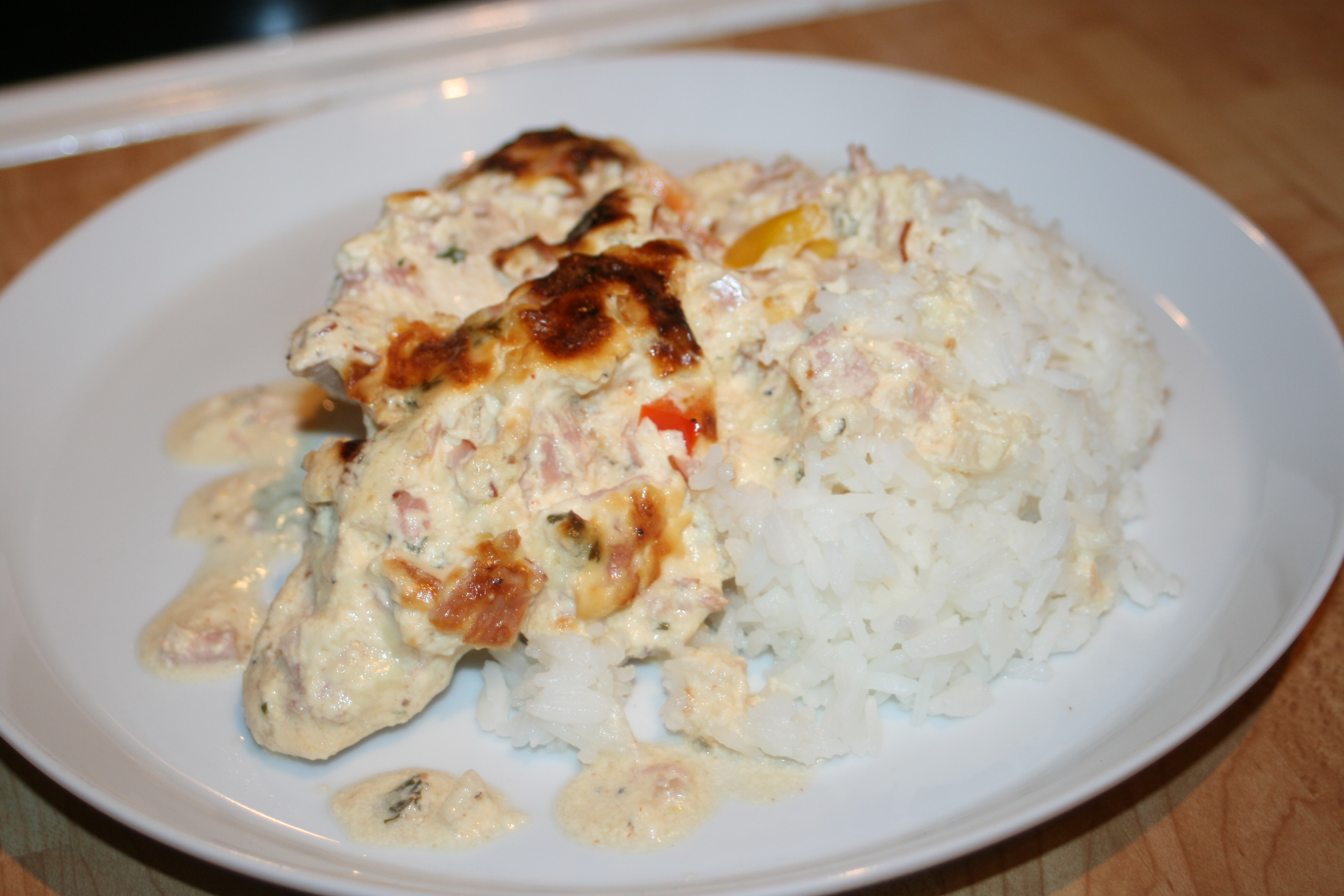 kycklinggratäng med ris