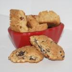 Knapriga biscotti med mandel, choklad och clementin – supergoda!