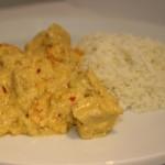 Kryddig fläskköttgryta med bland annat curry, ingefära och chili – hett middagstips!