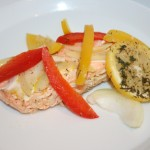 Laxfiléer i foliepaket med färska grönsaker och citron – fantastiskt gott!