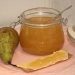 Söt päronmarmelad med vanilj – mums för såväl smörgås som dessertost!