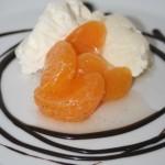 Marinerade/inkokta clementinklyftor med lime och vanilj