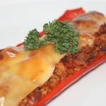 Snabblagad köttfärsfylld paprika med vitlökshetta