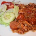 Smakrik köttfärsgryta med bacon och chorizo – fredagsmys!