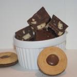 Ballerinafudge – krämig chokladfudge med kakbitar!