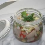 Asiatisk sill med chili, ingefära och koriander