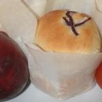 Fyllda kuvertbröd med soltorkade tomater, färskost och citron!