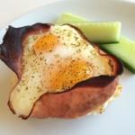 Ugnsbakat ägg med skinka och ost!