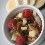 Granola/müsli med äpple och nötter