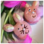 Påskens sötaste macarons – kaninkakor med hallonsmak!