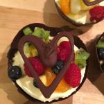 Pannacotta i chokladskål