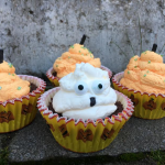 Kladdkaksmuffins á la Halloween