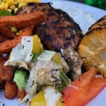 Grillade grönsaker med vitlökssmör